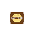 burger fast food logo vector image vector image