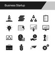 business startup icons design for presentation vector image