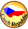 button Czech Republic vector image