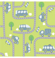 cars on the road seamless pattern vector image vector image