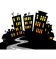 cartoon city skyline vector image