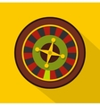 Casino gambling roulette icon flat style vector image vector image