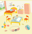 children s bedroom interior with furniture and vector image vector image