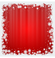 Christmas and New Year red blurry background vector image vector image