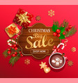 christmas big sale card for new year holidays vector image