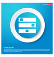 computer server icon abstract blue web sticker vector image