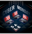 cyber monday laptop sale on yantra field vector image vector image
