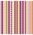 Decorative seamless pattern with vertical stripes vector image vector image