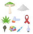 drugs set icons in cartoon style big collection vector image vector image
