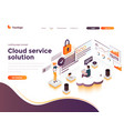 flat color modern isometric concept - cloud vector image vector image
