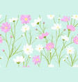 floral pattern with cosmos flowers vector image vector image