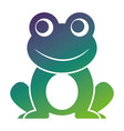 frog cute animal sitting cartoon vector image