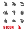 grey perfume icon set vector image