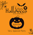 halloween party silhuette design template vector image