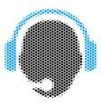 hexagon halftone operator head icon vector image