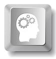 Human brain computer key vector image vector image