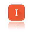i roman numeral orange square icon with vector image