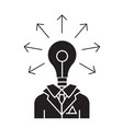 idea businessman black concept icon idea vector image