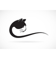 image of an cat face design on white background vector image vector image
