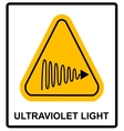 Intensity Ultraviolet Light Protect Your Eyes and vector image vector image