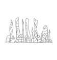 invented city fantastic incredible and utopian vector image