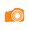 isolated camera silhouette vector image vector image