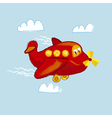 kiddy little red plane vector image