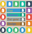 Kidney icon sign Set of twenty colored flat round vector image