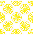 lemon fruit pattern yellow and white vector image vector image