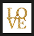 lettering Love with Heart vector image vector image