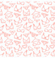 lingerie seamless pattern with flat line icons of vector image vector image
