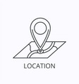 location thin line icon and concept vector image vector image