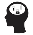 Man and thinking and scientific experiments vector image vector image