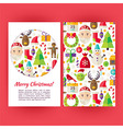 Merry Christmas Banners Set Template vector image vector image