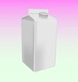 milk box mockup vector image vector image