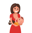 mother breastfeeding baby child holding vector image