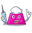 nurse trapezoid character cartoon style vector image vector image