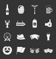 oktoberfest icons set grey vector image vector image