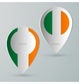 paper of map marker for maps ireland vector image