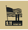 patriot day american flag background vector image vector image