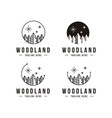 pine tree forest logo woodland logo icon template vector image
