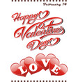 postcard happy valentine s day vector image vector image
