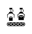 production line icon black vector image