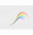rainbow curl isolated on transparent background vector image
