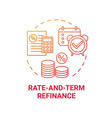 rate-and-term refinance concept icon vector image vector image