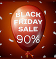 red balloon with black friday sale ninety percent vector image