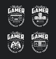 retro video games related t-shirt design vector image