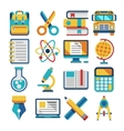 School and education flat icons vector image