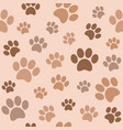seamless paw pattern flat design vector image