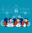 security team meeting concept business vector image
